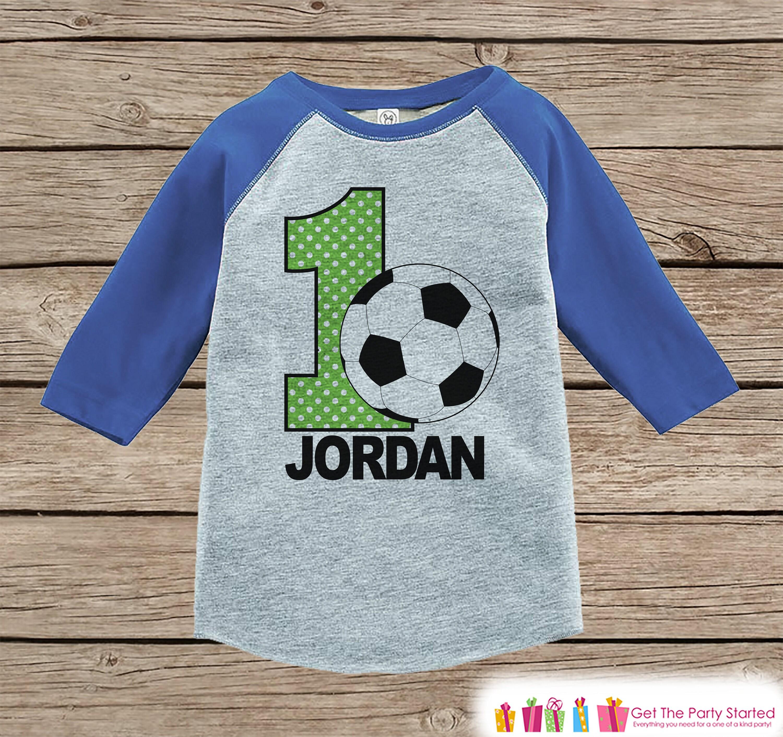 f7998aed7d2 Boys Soccer Birthday Shirt Kids Soccer Birthday Boy Shirt | Etsy