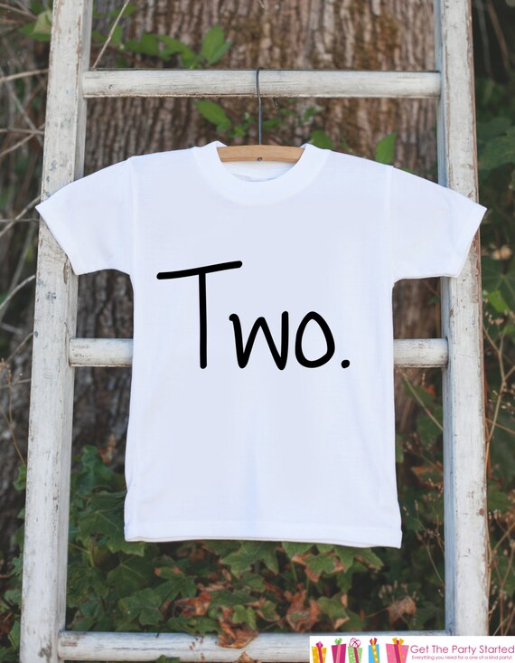 Kids Two Birthday Shirt Boy 2nd Tshirt For