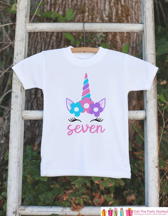 Girls Unicorn Birthday Shirt