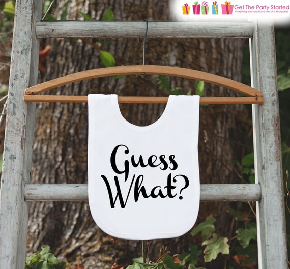pregnancy announcement guess what bib for new baby pregnancy