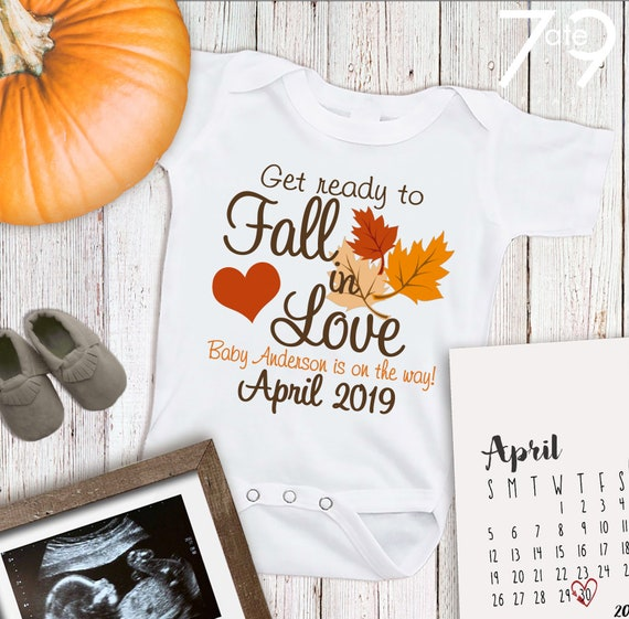 husband grandparent reveal Custom Date and name Our Little Pumpkin Pregnancy Announcement