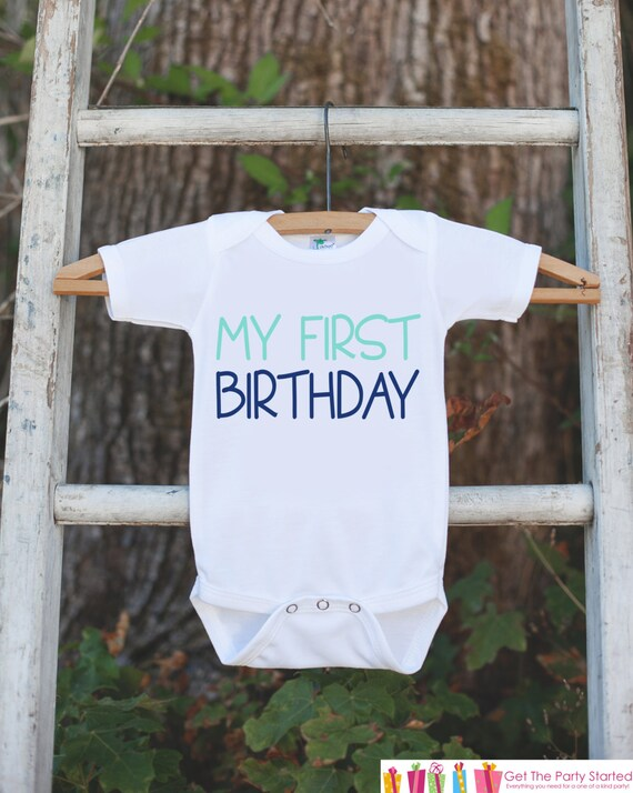 Boys My First Birthday Outfit Boy 1st Onepiece For