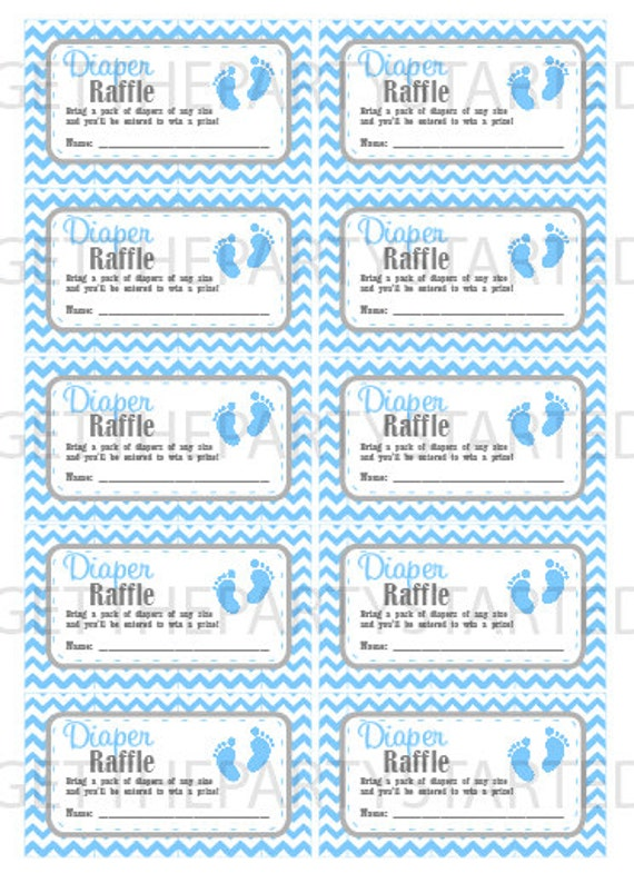 photo relating to Free Printable Baby Shower Diaper Raffle Tickets titled DIAPER RAFFLE TICKETS - Printable Child Shower Raffle Tickets