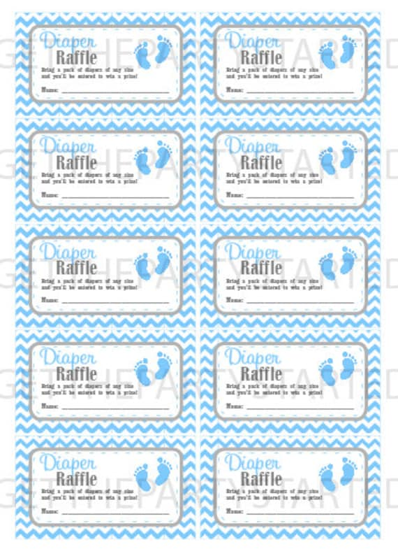 photo regarding Free Printable Diaper Raffle Tickets called DIAPER RAFFLE TICKETS - Printable Little one Shower Raffle Tickets