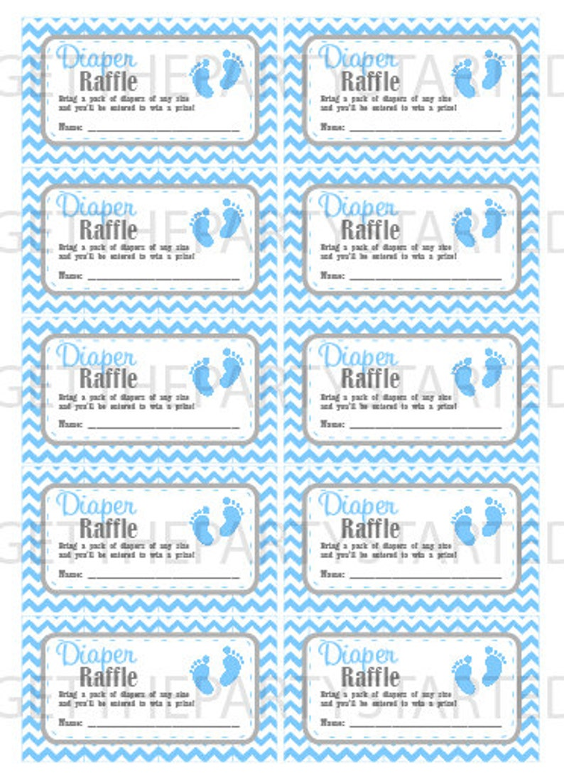 picture about Tickets Printable referred to as DIAPER RAFFLE TICKETS - Printable Child Shower Raffle Tickets - Gray Blue Boy or girl Toes Little one Shower - Immediate Obtain - Printable Tickets
