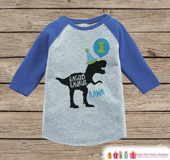 Boys Dinosaur Birthday Shirt