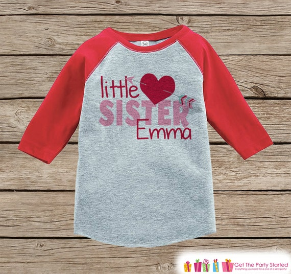Little Sister Valentine S Outfit Kids Happy Valentine S Day Shirt