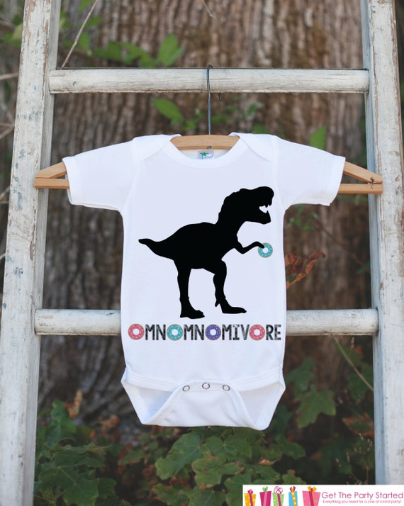 Dinosaur T-Rex Hungry for Donuts toddlerToddler Short Sleeve Tee Pink