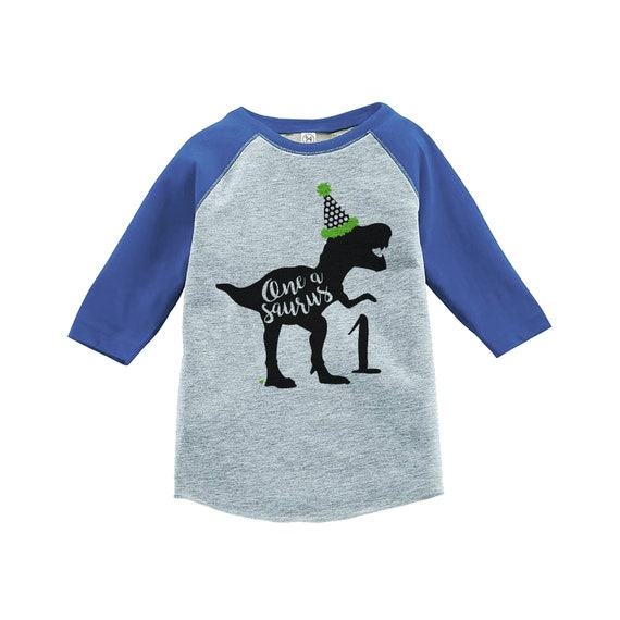 Dinosaur First Birthday Shirt Boys 1st Dino