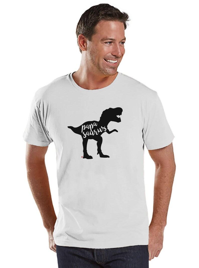Papa Des Pour Cadeau Shirt Blanc Dinosaure T Pères Homme Chemise Papasaurus Dino Tee Fête Mens UqSzVpMG