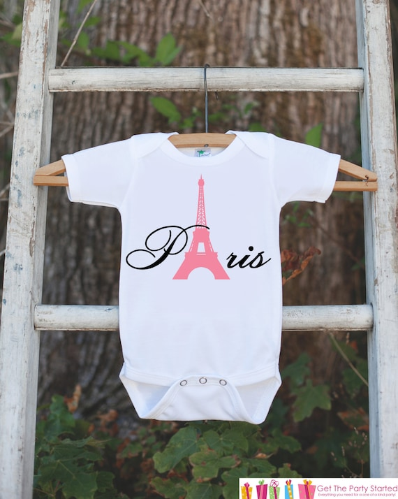Paris Outfit With Eiffel Tower Novelty Baby Shower Gift Etsy
