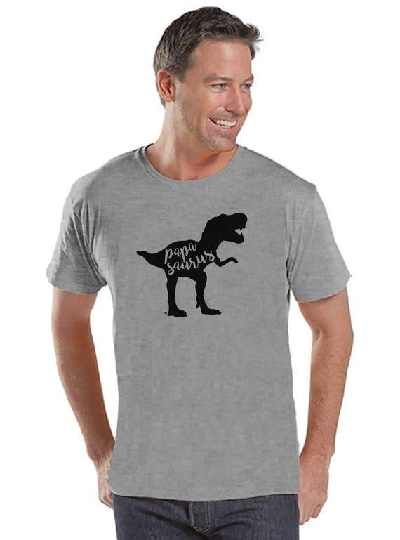 Papasaurus chemise - T-shirt pour homme gris - Mens - dinosaure Tee - Shirt - Mens Dino cadeau pour papa - dinosaure fête des pères cadeau - papa chemise idée cadeau 781e24