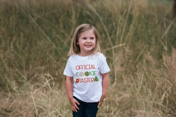 Kids Christmas Outfit- Cookie Taster Holiday Outfit Sibling Shirt Christmas Pajamas Kids Hoodie Pullover Girl or Boys Christmas