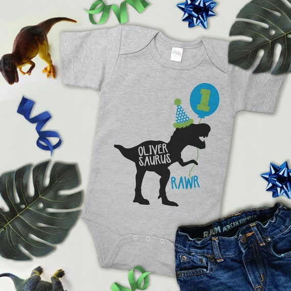 78d0e5d46e7 Dinosaur Birthday Shirt - Boys Custom Blue Dino Bodysuit or T-shirt - Kids  Dinosaur Birthday Party Shirt - Funny Dinosaur Birthday Shirt