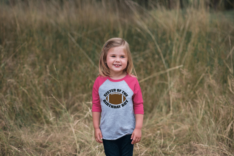 Football Birthday Shirt - Sister Of The Birthday Boy Tshirt - Girls Football Birthday Shirt - Pink Raglan Tee - Sports Birthday Shirt Unisex Tshirt