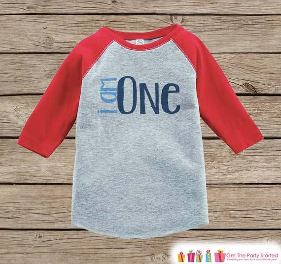 7 ate 9 Apparel Boys Birthday Boy Baseball Blue Raglan Tee