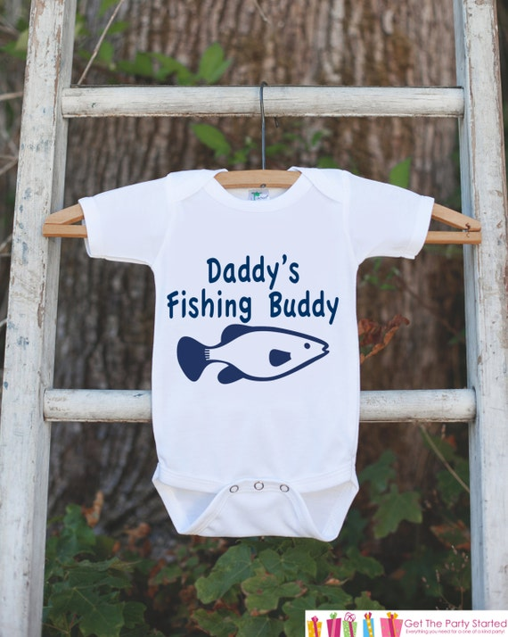 e3b7d0ed619c Daddy's Fishing Buddy Onepiece Outfit - Father's Day Gift - Bodysuit for  Newborn Baby Boys - Infant Outfit - Daddy's Buddy Shirt with Fish