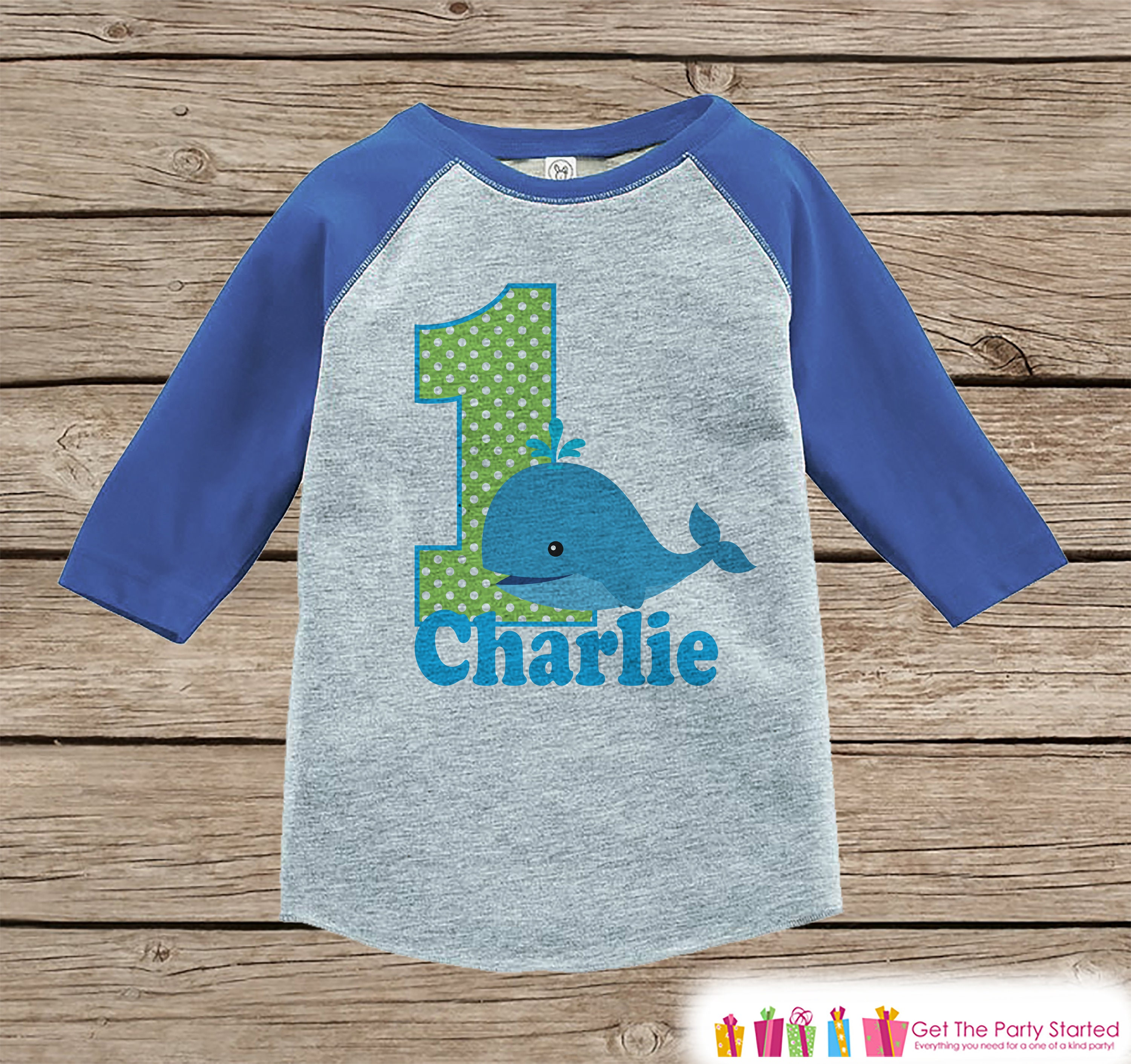 First Birthday Whale Shirt Boys 1st Birthday T-shirt Whale