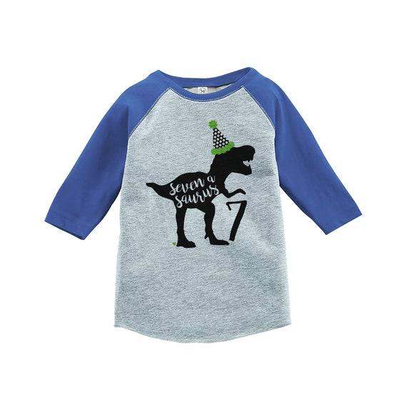 Dinosaur Seven Birthday Shirt