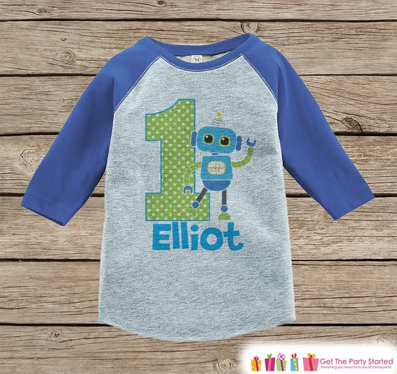 Kids Birthday Robot Shirt