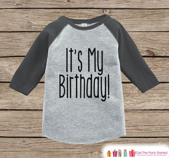 Kids Birthday Shirt Its My Baby Boy