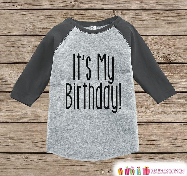 Kids Birthday Shirt Its My Baby Boy