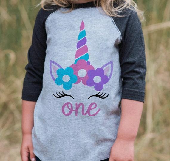 Unicorn First Birthday Shirt