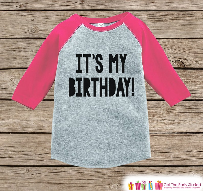 Kids Birthday Shirt Its My Baby Girl