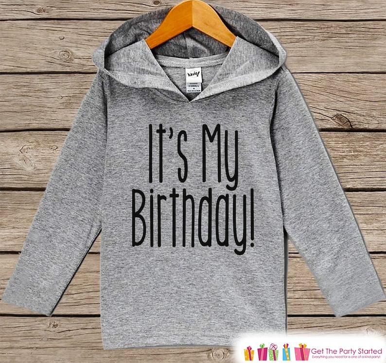6b81f445 Kids Birthday Shirt It's My Birthday Hoodie Birthday | Etsy