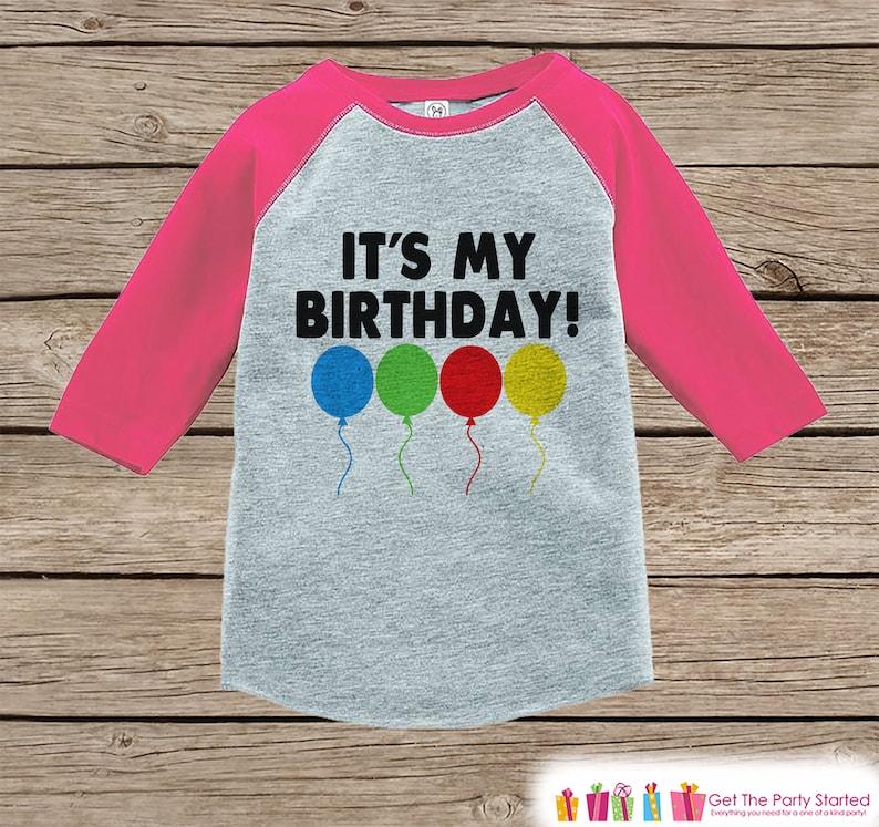 Kids Birthday Shirt Its My Baby Girl