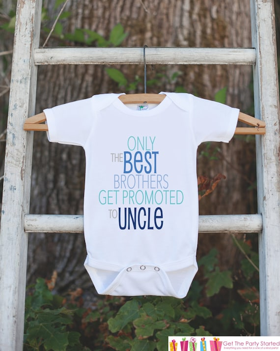 Only The Best Brothers Get Promoted to Uncle cute Baby Bib