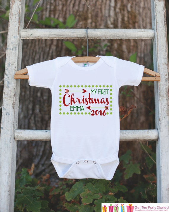 Il_570xn - My First Christmas Outfit - Baby's 1st Christmas Onepiece - 2017