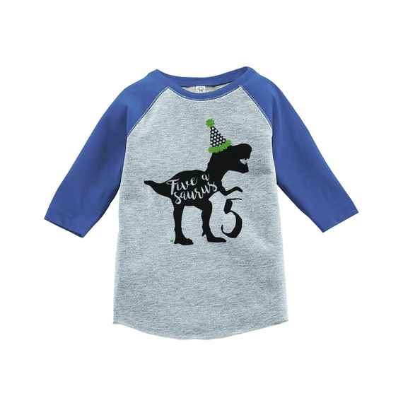 Dinosaur Five Birthday Shirt