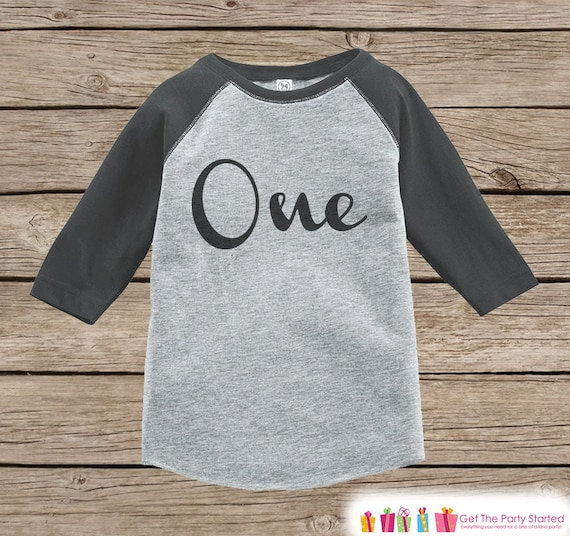 One First Birthday Raglan Shirt