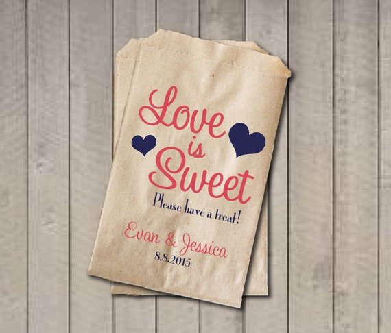Enjoyable Wedding Favor Bags Love Is Sweet Favor Bags Personalized Download Free Architecture Designs Intelgarnamadebymaigaardcom