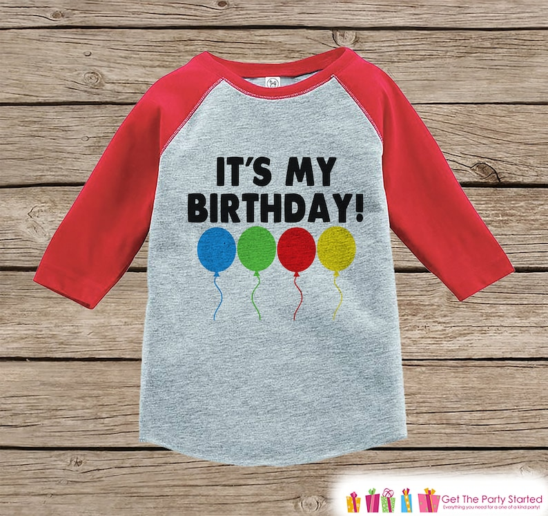 Kids Birthday Shirt Its My Boy Or