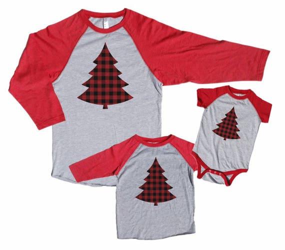 Family Christmas Pajamas Plaid Trees Matching Christmas  3a76ec5deb