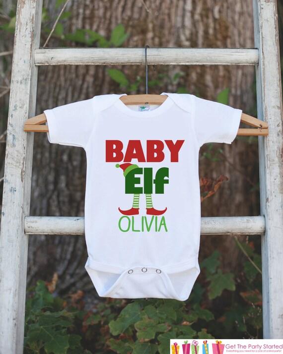 Babys First Christmad Personalized One Piece Bodysuit Shirt  Newborn