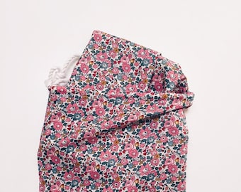LIBERTY COTTON PILLOWCASE constructed from Liberty Tana Lawn in Betsy Ann E (dark pink)