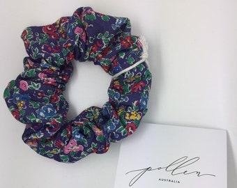 SCRUNCHIE made in Liberty Fabric - hair accessories for women and children. Liberty print TATUM (purple)