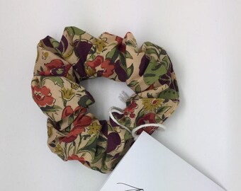 SCRUNCHIE made in Liberty Fabric - hair accessories for women and children. Liberty print AUTUMN FLOWERS