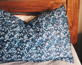 LUXE LIBERTY PILLOWCASE constructed from Liberty print Wiltshire - Standard size Pillow Slip 75cm x 50cm - Also available as a set of 2