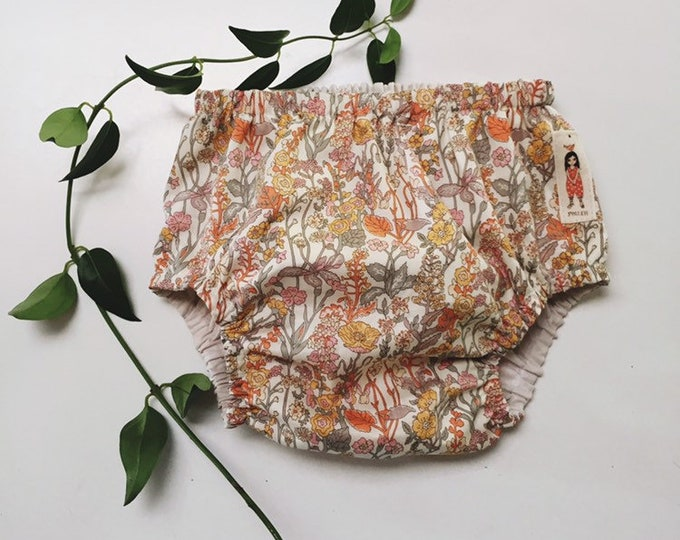 LIBERTY ROSA BLOOMERS - Diaper cover / Nappy cover Constructed from Liberty Fabric Cotton Tana Lawn Flowers yellow
