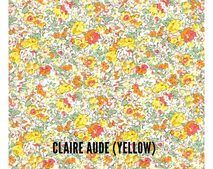 COCO BABY BONNET vintage style baby hat in Liberty Art tana lawn fabric Claire Aude (yellow)