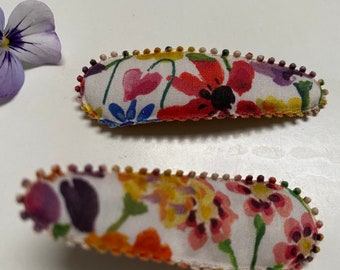 LIBERTY FABRIC HAIRCLIPS // Lucy