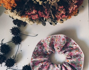 SCRUNCHIE made with Liberty Fabric - hair accessories for women and children. Liberty print Amelie F (Pink) one