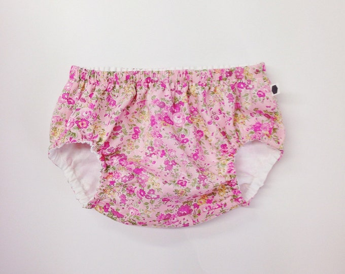 ROSA BLOOMERS - Diaper cover / Nappy cover Constructed from Liberty Fabric Cotton Tana Lawn 12-18 months
