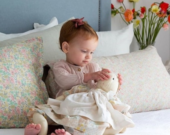 LUXE LIBERTY PILLOWCASE Made with Liberty Fabrics - Katie+Millie B (Peach) Standard Size