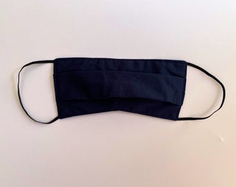 ADULT FACE MASK // Navy // Cotton outer, Soft cotton mask. (not medical grade)
