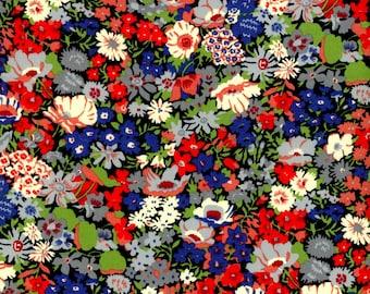 Single LUXE LIBERTY PILLOWCASE // Made with Liberty Fabrics Tana Lawn// Liberty print Thorpe K (Green/Navy) // Standard Size